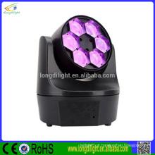 Melhor Preço 4in1 RGBW Lavar Movendo Cabeça Zoom 6pcs 10w LED Mini Bee Eye