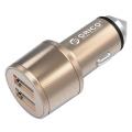 ORICO UCI-2U 15.5W 2 puertos USB cargador de coche, martillo de seguridad también