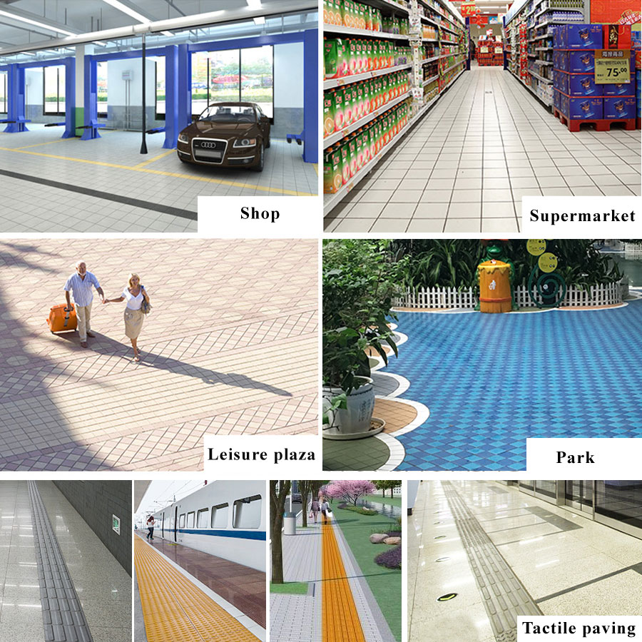 Non slip outdoor tile flooring