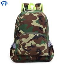 Foldable nylon camouflage travel mountaineering backpack