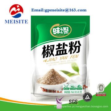 Saco de plástico personalizado para fabricante chinês para embalagem de pó de tempero