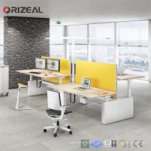 Tabela de escrita ajustável automática da altura da mesa de escritório da altura elétrica de 2 pessoas