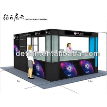 Puesto de exhibición de tienda modular puesto personalizado, diseño libre y exhibición de stand de exposición de feria