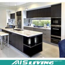 Mobília dos armários de cozinha de Playwood da melamina da cor do dobro da fábrica de Foshan (AIS-K948)