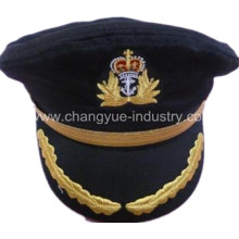 good quality fashion custom OEM captain hat