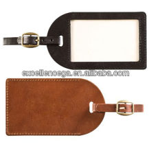 Leather luggage tag for 2014
