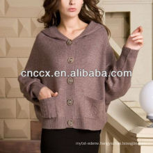 13STC5544 ladies sweater cardigan hooded cashmere cardigan