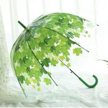 Transparent Mushroom Umbrella 23 Inch Automatic
