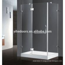 Fabriqué en Chine cabines de douche à vapeur à porte battante de haute qualité en vente au détail