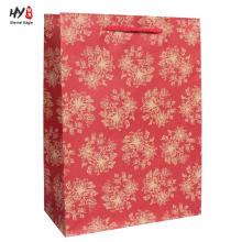 Eco-friendly recyclable kraft custom printed paper bag