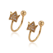 95795 XP wholesale fashion gold jewelry simple design clip earrings for girls