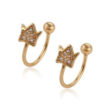 95795 pendientes al por mayor del clip del diseño simple de la joyería del oro de la moda de XP para las muchachas