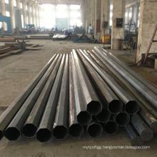 Good Quality Black Semifinished Ungalvanized Steel Pole