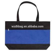 Hochwertige tragbare nicht gewebte Konferenztasche Reißverschluss mit Visitenkarte-Tasche auf der Rückseite