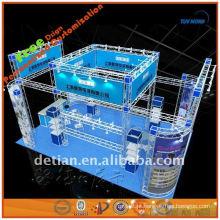 Stand de exposição móvel quadrado padrão fabricado em Xangai