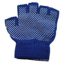 Luvas de meio dedo NMSAFETY tricô padrão