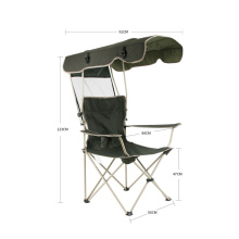 Hot selling outdoor furniture folding portable chair with canopy comfortable pcinic metal chair
