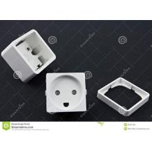 Electrical outlet plastic components