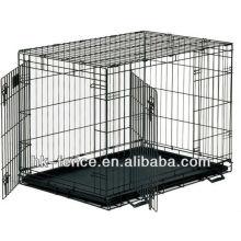Haute qualité XXL double porte en métal coloré pliant caisse / chien Cage