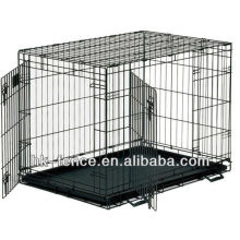 High Quality XXL Double Door Folding Colored Metal Pet Crate/Dog Cage
