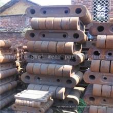Линейные части земснаряда с высоким содержанием марганцевой стали
