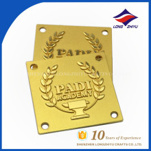 Square academy gold name plate by name plate maker