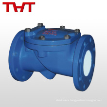 Rubber flap carbon steel flange end silicone check valve