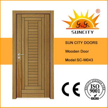 Новый дизайн Топ продаж одного шпонированные межкомнатные деревянной двери (СК-W043)