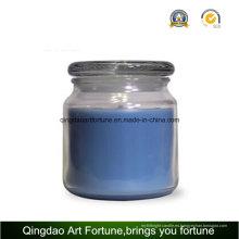 Cristal perfumada vela del tarro con tapa de vidrio plana fabricante