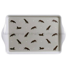 15 pouces Rectangle Melamine Serving Tray with Handle (TR1130)