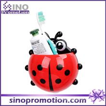 Single Cute Plastic Suction Cup Toothbrush Holder with Suction Cup