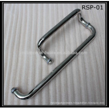 stainless steel material swing glass shower door handle with towel bar