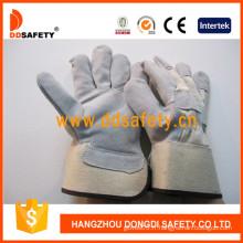 Gants de sécurité en cuir fendu de gant de vache de vache-Dlc219