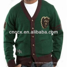 13STC5474 V-neck men custom cardigan sweater