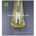 80ml Hot sale make up packing yellow colored empty cosmetic glass pump bottle