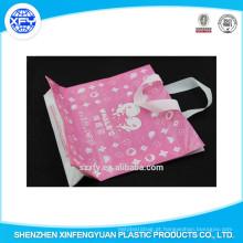 Comprimento mão Handle saco de compras de plástico com logotipo personalizado