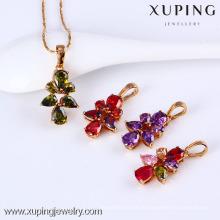 31379-Xuping Heißer Verkauf Diamant Anhänger Schmuck Messing Halskette Anhänger