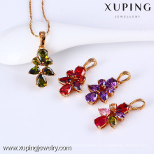 31379-Xuping venta caliente colgante de diamantes colgante collar de latón de la joyería