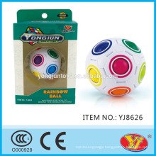 2016 new product YJ YongJun Rainbow ball Magic Magical Puzzle Ball Cube Educational Toys English Packing for Promotion