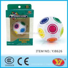 2016 новый продукт YJ YongJun Радуга мяч Magic Волшебный Puzzle Ball Куб Обучающие игрушки Английский Упаковка для поощрения