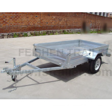 Tipping hot dipped galvanized box trailer with different sizes