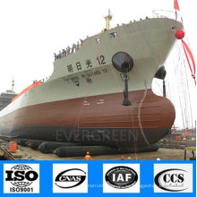Airbags de goma marino de alta calidad del fabricante para el lanzamiento de la nave