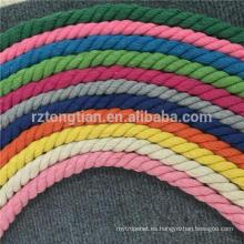 3 hilos de cuerda trenzada de algodón para la venta al por mayor