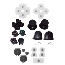 Thumbsticks Thumb Grip Cap D-pad + Direction touche Bullet Boutons Silicone Conductive Pads pour Sony PS4 Controller