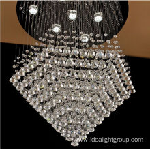 glass ball chandelier led modern pendant light