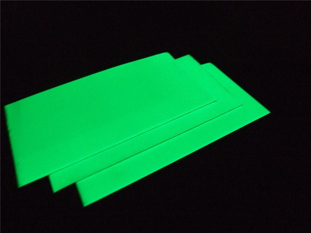 3pieces-photoluminescent-aluminium-sheet-on-the-night