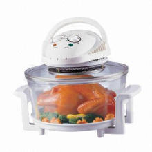 Halogen Oven/Cooker with Safety Push Down Switch and Power Switch, Saves Up to 75% Energy