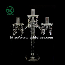 Glass Candle Holders for Party Decoration with Three Posts (10*24*32.5)