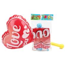 Juguete inflable del corazón del amor de los juguetes de los niños con la bomba (H10216009)