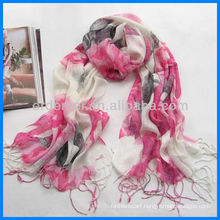 Autumn printing linen scarf manufacturer